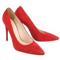 bi 5043 czerwony 757, czółenka damskie, Bioeco by arka