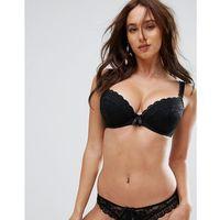 rebel padded plunge bra - black, Pour moi
