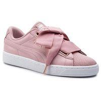 Sneakersy - basket heart woven rose wns 369649 01 bridal rose/puma white marki Puma