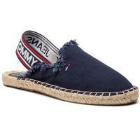 Tommy jeans Espadryle - pop webbing slingback espadrille en0en00425 midnight 403