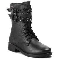 Pepe jeans Botki - maddox army pls50346 black 999