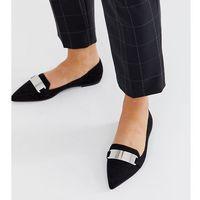 ASOS DESIGN Leonie pointed loafer ballet flats in black - Black