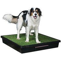 Pet loo Przenośne wc dla psa rasy większej wyłożone sztuczną trawą