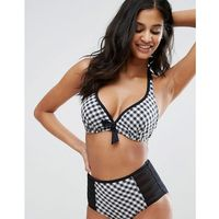 Pour Moi Checkers Halter Bikini Top C-G Cup - Multi, halter
