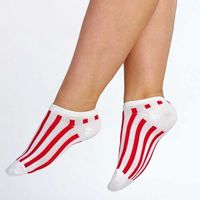 Skarpety damskie [Stopki] Supa! Sox! Red Stripes, kolor czerwony