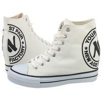 Sneakersy białe 022 white (na87-b) marki New age