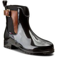 Kalosze TOMMY HILFIGER - Oxley 2Z2 FW56822108 Black/Winter Cognac 990, w 7 rozmiarach