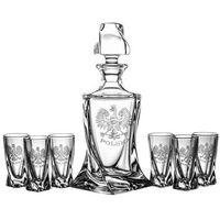 Karafka i 6 kieliszków do wódki grawer orzeł polska (05757) marki Crystal julia