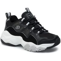 Sneakersy SKECHERS - D'Lites 999878/BKW Black/White