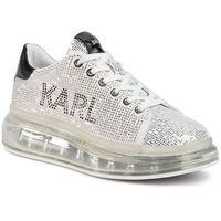 Sneakersy - kl62623 silver textured lthr marki Karl lagerfeld