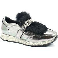 278973r94 srebrne - sneakersy z futerkiem, Venezia