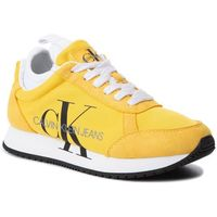Sneakersy jeans - josslyn b4r0825 lemon chrome, Calvin klein