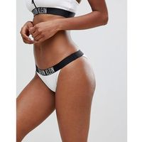Calvin Klein Brazilian Logo Bikini Bottom - White, bikini