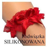 Podwiązka florence b silikon rozmiar: uniwersalny, kolor: czerwony, enjoy marki Enjoy