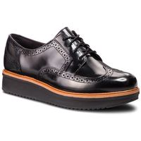 Oxfordy - teadale maira 261363544 black leather, Clarks