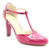 Kotyl 5879 fuksja lakier - buty damskie doskonałe do tańca, skóra naturalna - różowy