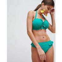 Pour Moi Padded Underwired Bikini Top - Green, w 3 rozmiarach
