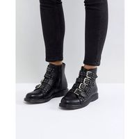 Truffle Collection Buckle Ankle Boots - Black