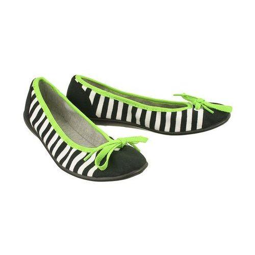 Befado 309q 010 czarny, baleriny damskie tekstylne - czarny