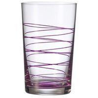 Leonardo - Szklanka 0,35 l Spirale - fioletowa