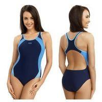 Gwinner strój kąpielowy damski jednoczęściowy (granatowy/niebieski) (gw10113/1)