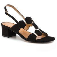 Sandały SAGAN - 3601 Czarny Welur, 1 rozmiar