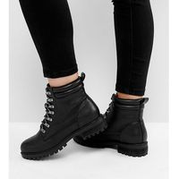 ASOS ABSINTHE Wide Fit Lace Up Ankle Boots - Black, kolor czarny