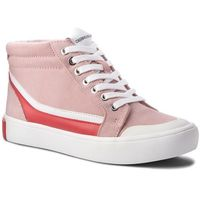 Calvin klein Sneakersy jeans - doris r0797 chintz rose/white/to