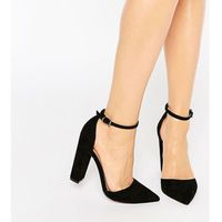 Asos penalty pointed high heels - black marki Asos design
