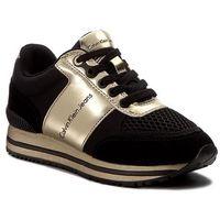 Calvin klein Sneakersy jeans - tanya r0651 black/gold