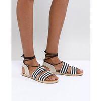 emory striped flat sandals - multi, Raid