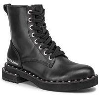 Botki jeans - nannie b4r0468 black marki Calvin klein