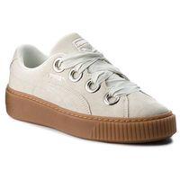 Sneakersy PUMA - Platform Kiss Suede Wn's 366461 02 Blue Flower/Puma Silver, kolor beżowy