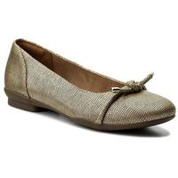 Baleriny CLARKS - Neenah Poppy 261323614 Gold Metallic