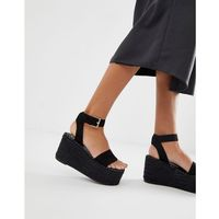 Simmi london melanie black drench espadrille flatform sandals - black marki Simmi shoes