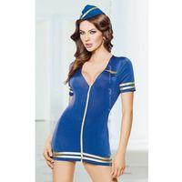 Softline collection Stewardess - blue 1751 sukienka i czapka