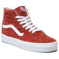 Sneakersy - sk8-hi vn0a4bv6v751 (pig suede) brnt brcktrwht marki Vans