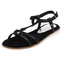 Tom tailor sandały z rzemykami czarny