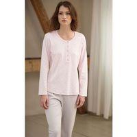 Piżama Cana 385 S-XL dł/r L, różowy jasny-mocca. Cana, L, M, S, XL, 5902406138521