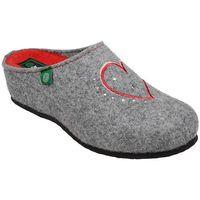 Kapcie 330149-9 popielate pantofle domowe ciapy zdrowotne - popielaty ||szary ||czerwony, Dr brinkmann