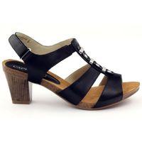 Sandały damskie na rzep caprice czarne marki Buty caprice