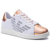 Sneakersy - x8x001 xk076 d884 white/rose gold marki Ea7 emporio armani