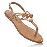 Bonprix Sandały japonki jasnobrązowy