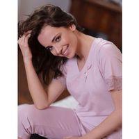 Piżama Cana 191 M-XL L, różowy pudrowy, Cana, kolor różowy