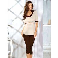 Babella kati czekoladowo-beżowa piżama damska