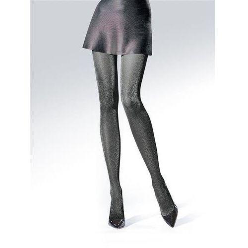 Rajstopy party lurex 30 den nero-silver - nero-silver marki Knittex