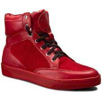 Sneakersy ROBERTO - 521/D Czerw. Lico/Czerw. Welur