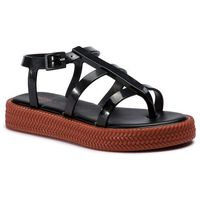Melissa Sandały - caribe verao platform 32481 black/brown 50801