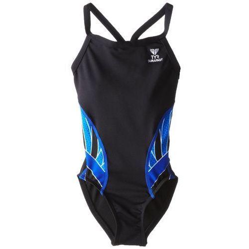 Tyr Phoenix Diamondfit - damski strój treningowy (czarny-niebieski), w 3 rozmiarach