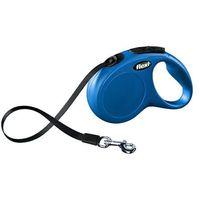 Flexi  new classic smycz taśma m-l 5m niebieska [fl-3310]